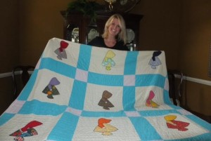 v with quilt